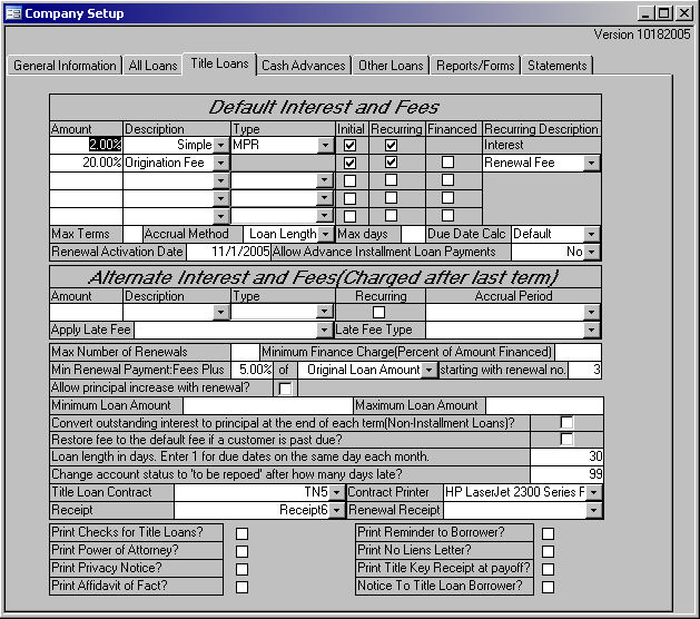 Tennessee Title Loan Software Tennessee Cash Advance Software
